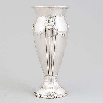 A Danish Art Nouveau parcel-gilt vase, unknown maker, Copenhagen, 1914.