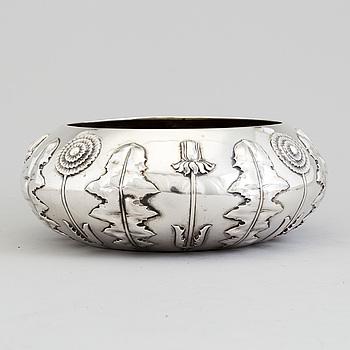 S & M BENZEN, skål, silver, jugend,  Köpenhamn, 1905.