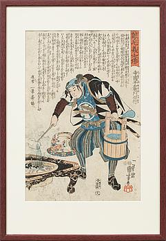 UTAGAWA ICHIYUSAI KUNIYOSHI,  träsnitt, 1800-tal.
