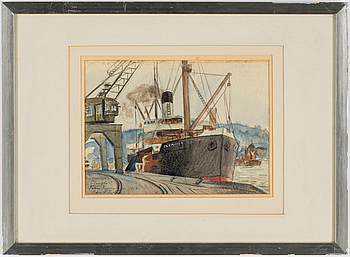 EDVIN LYDÉN, watercolour, signed and dated 1924.