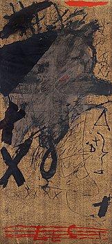 ANTONI TÀPIES, färgserigrafi, 1974, numrerad 50/100, utgiven av Sala Gaspar, tryckt av Alexandre Tornabell de Arner.