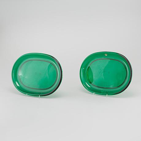 Eleven lobster glass plates by josef frank for firma svenskt tenn, 20th century