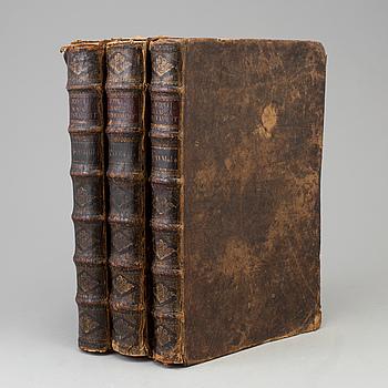 BIBLAR, tre stycken, 1700-tal.