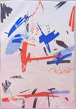 PETRA CORTRIGHT, executed 2014. Digital print on silk.