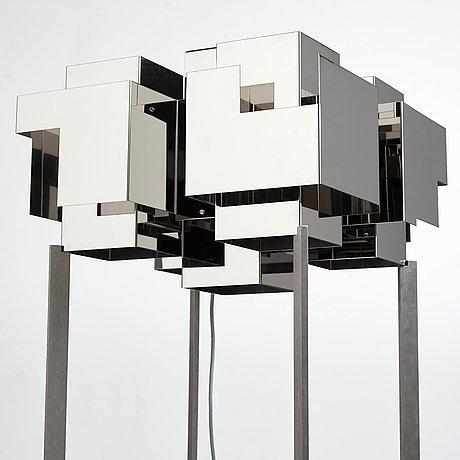 """Folkform, a """"suburban skyline"""" floor lamp, unique edition, studio folkform 2017."""