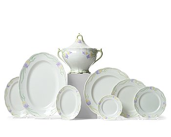 "40. Alf Wallander, an extensive ""Tulip"" porcelain dinner service, Rörstrand, Sweden 1902-1915, 104 pieces."
