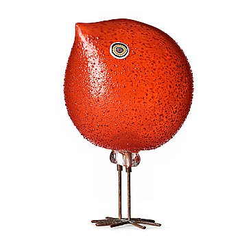 "32. Peter Pelzel, a ""Pulcino"" glass bird, Italy 1960's, model S 193."