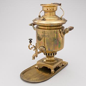 A RUSSIAN SAMOVAR, brass, Tula, circa 1900.