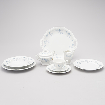 """A 74 part porcelain coffee & dinner service, """"Classic Rose"""", by Rosenthal, second half of the 20th century."""