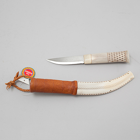 A knife by sven Åke risfjäll, signed and dated -96.