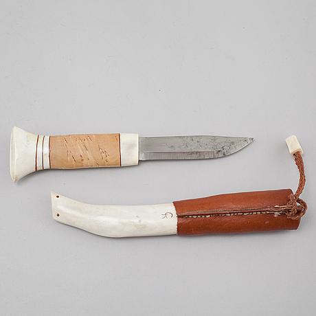 A knife by gunnar kivimärke or gunnar kemppainen, signed