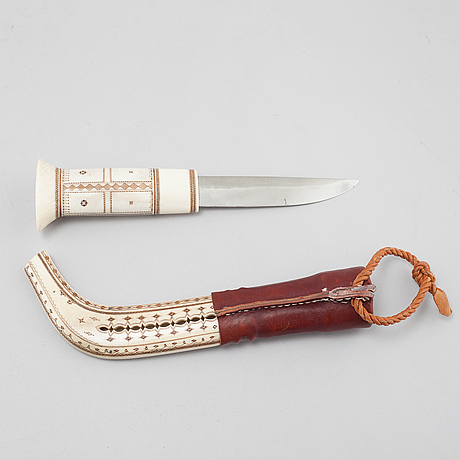 A knife, possibly by sven isaksson, 20th century