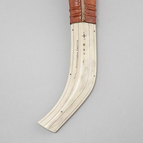 A signed knife by svante larsson from lappträsk