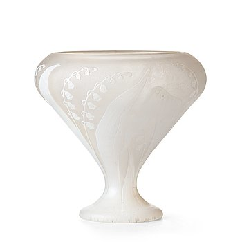 1. Karl Lindeberg, an Art Nouveau cameo glass vase by Kosta, Sweden.