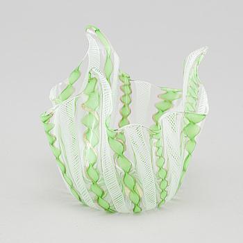 """A circa mid 20th century """"Fazzoletto"""" bowl, Murano."""