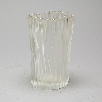A glass vase by Tapio Wirkkala for Iittala, designed 1950.