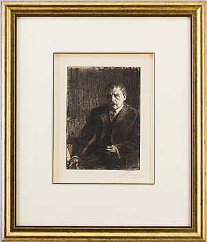 ANDERS ZORN, Etching, 1904, signed with pencil.