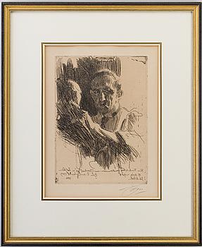 ANDERS ZORN, Etsning, 1909, signerad med blyerts.
