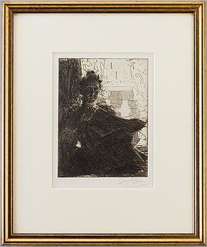 ANDERS ZORN, Etsning, 1900, signerad med blyerts.