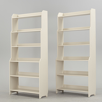 """BOKHYLLOR, ett par, """"Leksvik"""", IKEA."""