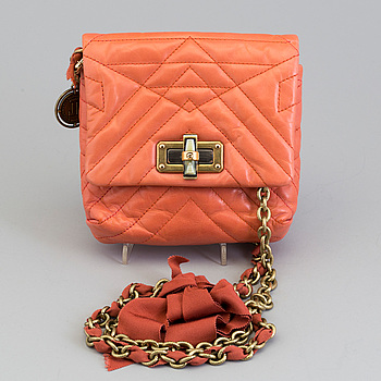 """A LANVIN """"Happy Mini"""" QUILTED LEATHER SHOULDER BAG."""