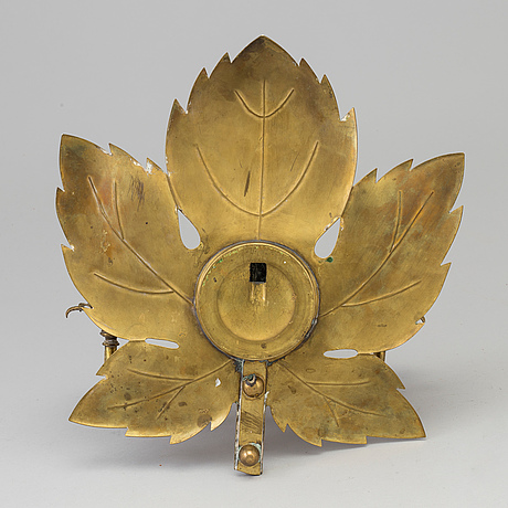 A brass wall light, mid 20th century.