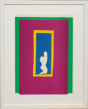 """HENRI MATISSE, HENRI MATISSE, after, a lithograph in color. Unsigned. From """"Jazz"""" 1983."""