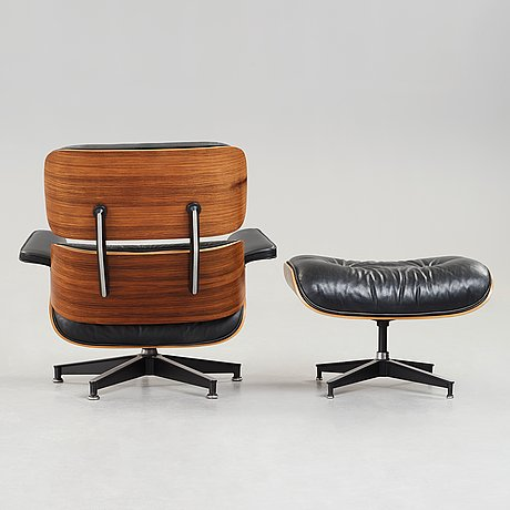 Charles & ray eames, a lounge chair with ottoman, herman miller, usa 1980's.