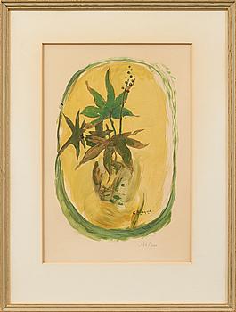 GEORGES BRAQUE, litografi, signerad i trycket, numrerad 174/400.