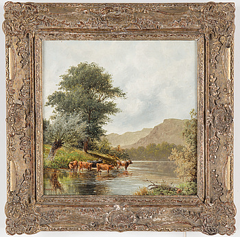 WILLIAM HENRY MANDER, WILLIAM HENRY MANDER, oil on canvas, signed.