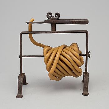 VAXSTAPELSTÄLL, smide, 1700-tal.