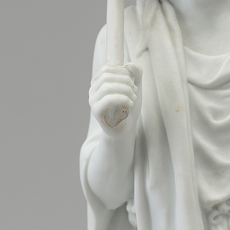 "Bertel thorvaldsen, efter. skulptur, biskvi. ""jägare"". bing & gröndahl, danmark, 1900 tal"