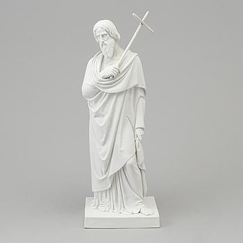 """BERTEL THORVALDSEN, efter. SKULPTUR, biskvi. """"Aposteln Filippus"""", Royal Copenhagen, Denmark, 1800-tal."""