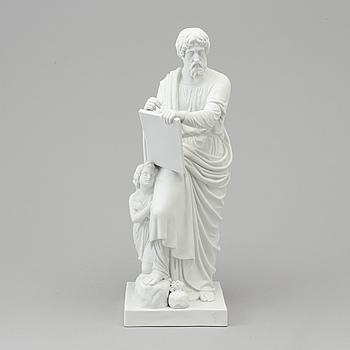 "BERTEL THORVALDSEN, efter. FIGURIN, biskvi. ""Aposteln Matteus"", Kungl dansk, 1800-tal."