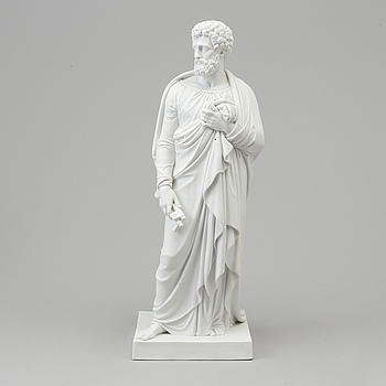 "BERTEL THORVALDSEN, efter. SKULPTUR, biskvi. ""Aposteln Petrus"", Kungl Dansk, 1870-tal."