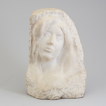 AUGUSTE RODIN, after, a marble sculpture.