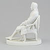 """Skulptur, biskvi. """"ludwig holberg (1684 1754). kungl. dansk 1800 tal"""