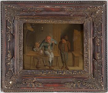 HOLLÄNDSK SKOLA, 1800-tal. ett par, olja på pannå, osignerade.