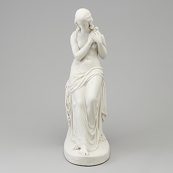 A biscuit figure of Innocence, England, Copeland, 19th Century.