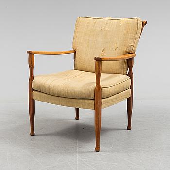 A mid 20th century armchair by Josef Frank, Svenskt Tenn.