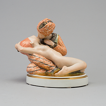 A Royal Copenhagen porcelain figure after Gerhard Hening, Denmark 1920's.