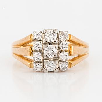 RING, med diamanter,