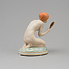 """Figurin, porslin. """"flicka med spegel"""", gerhard henning. royal copenhagen, danmark, 1920 tal"""