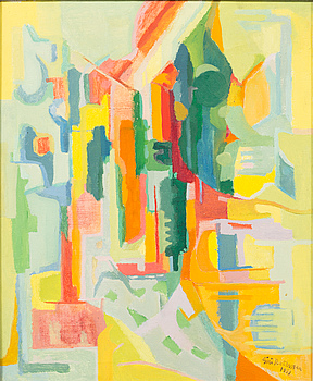 SIRI RATHSMAN, oil on canvas, signed and dated -51.