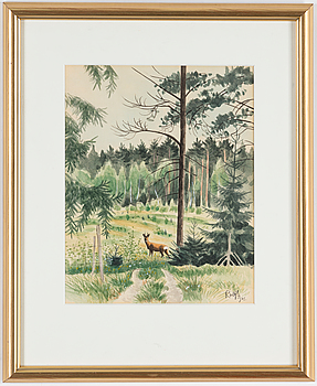 ROLF SVENSSON, ROLF SVENSSON, watercolor on paper, signed and dsted 1975.