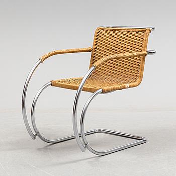 "LUDWIG MIES VAN DER ROHE, ARMCHAIR, ""MR 20"",  designed 1927."