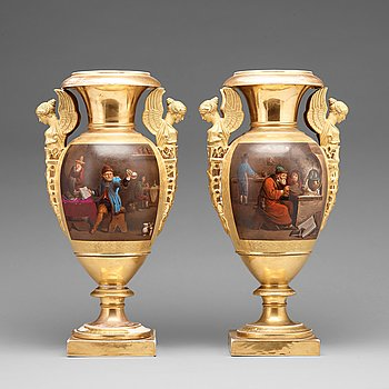 A pair of vases, 19th/20th Century.