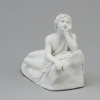 BERTEL THORVALDSEN, efter. Skulptur, parian. Ur Johannes Döpares predikan. Bing & Gröndahl, Danmark, 1870-tal.