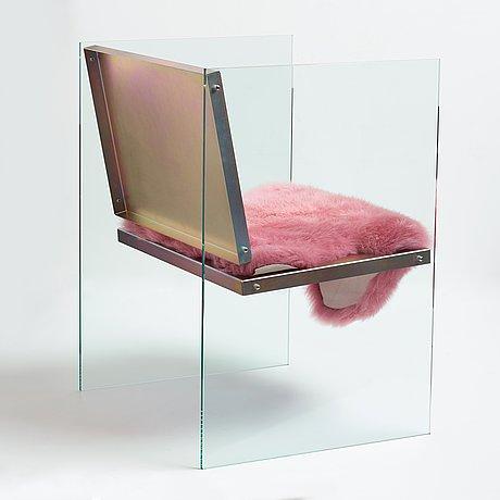 "Fredrik paulsen, a ""glass and steel chair"", edition ea i/i, studio fredrik paulsen 2017."