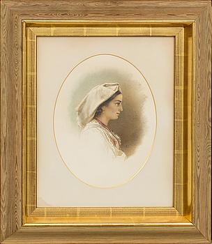EGRON LUNDGREN, akvarell med täckvitt, monogramsignerad.